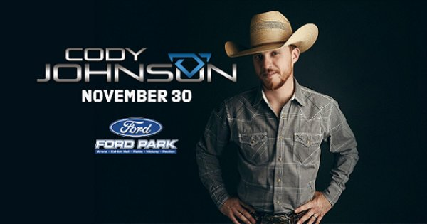 None - Win Tickets To Cody Johnson Nov. 30th @ Ford Arena, Beaumont
