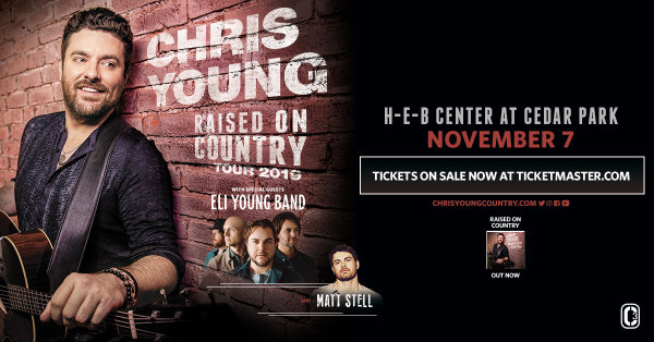 None - Enter to Win a Pair of Tickets to see Chris Young at the Cedar Park Center on Nov. 7!