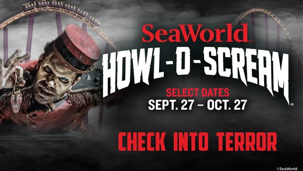 None - Win a 4 Pack of Tickets to SeaWorld Howl-O-Scream!