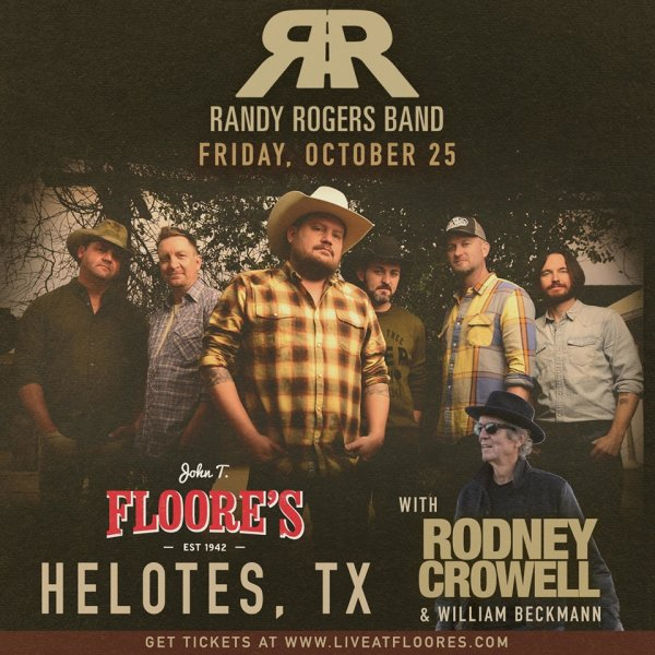 None - Win a Pair of Tickets to See Randy Rogers Band at Floore's!