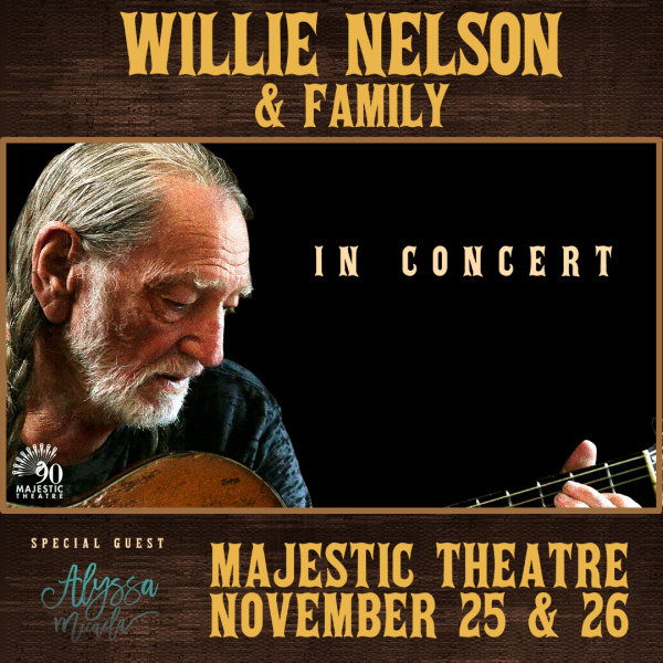 None - Win a Pair of Tickets to See Willie Nelson at the Majestic Theatre!