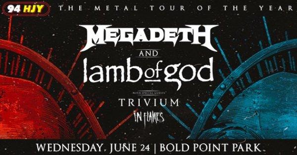 image for Megadeth & Lamb of God at Bold Point Park