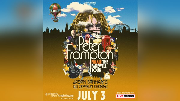 None -  Win tickets to see Peter Frampton at St. Joseph's Health Amphitheater!