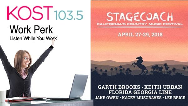 KOST 103.5 Work Perk: STAGECOACH 2018 (4/27-4/29) (Pair of 3-Day ...
