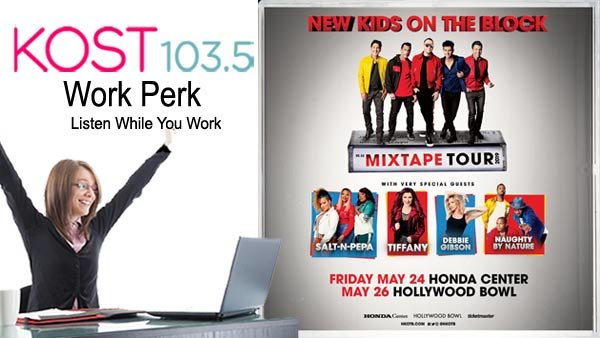 None -    KOST 103.5 Work Perk: New Kids on the Block – MixTape Tour (5/24 or 5/26)