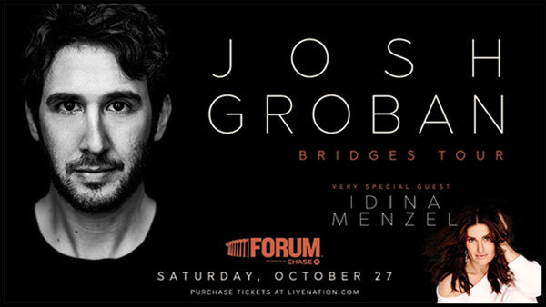 None - Meet Josh Groban at The Forum (10/27)