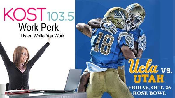 None -  KOST 103.5 Work Perk: UCLA vs Utah Utes at Rose Bowl (10/26) (4-pack)