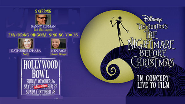 """None - Danny Elfman performs Tim Burton's """"The Nightmare Before Christmas at the Hollywood Bowl (10/28) (4-pack)"""