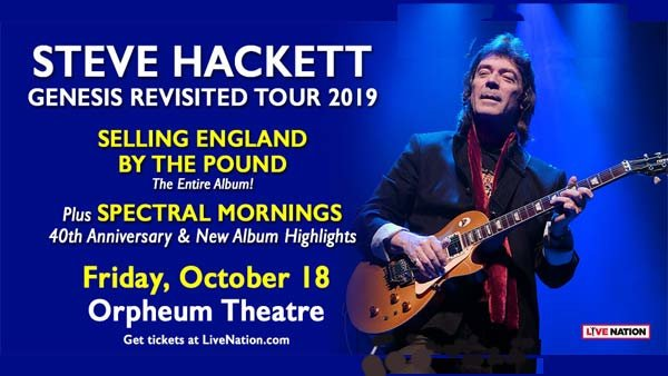 None - Steve Hackett at Orpheum Theatre (10/18) (Online Contest #2)