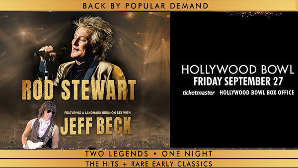 None - Rod Stewart with Jeff Beck at Hollywood Bowl (9/27)