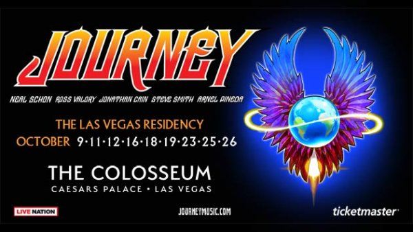 None - Journey: The Las Vegas Residency at Caesars Palace (two-night stay + tickets + gas card)