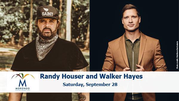 None - Randy Houser & Walker Hayes at Morongo Casino Resort and Spa (9/28) (Pair)