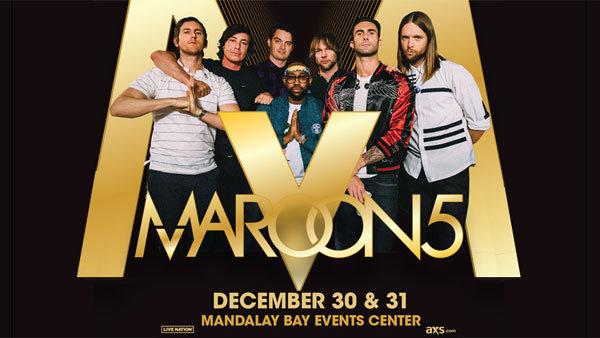None - Maroon 5 in Las Vegas (12/31) (Hotel + Tickets + Gas Card)