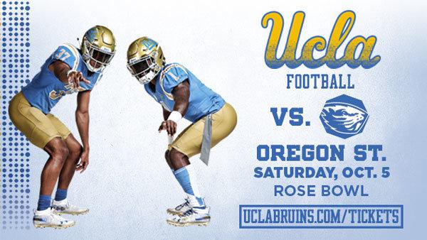 None - UCLA Bruins vs. Oregon State Football (10/5) (4-pack)