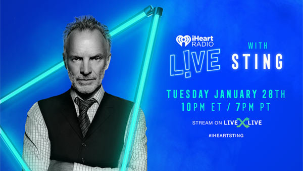 None - iHeartRadio LIVE with Sting (1/28) (Pair)