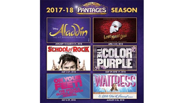 Hollywood Pantages 2017-2018 Season   Contest   KOST 103.5