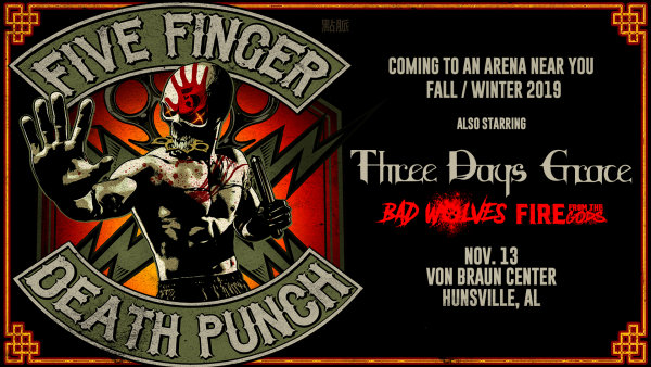 None - Five Finger Death Punch | Von Braun Center