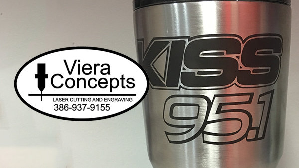 None - Win your own Kiss 95.1 drink mug from Viera Concepts