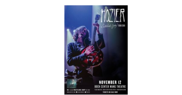 None - Win tickets here to see Hozier at the Boch Center Wang Theatre!