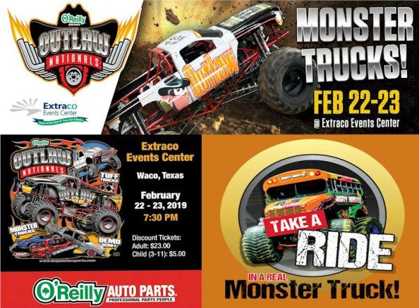 None - Register To Win The KID'S MONSTER TRUCK CHALLENGE | Oreilly Outlaw Nationals