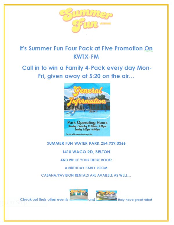None - Register to win the SUMMER FUN WATER PARK Giveaway