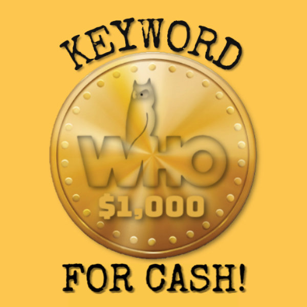 None -  Win $1,000 16X a Day with Keyword For Cash!