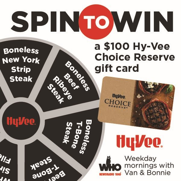 Enter to Win a $100 Hy-Vee Meat Gift Card!