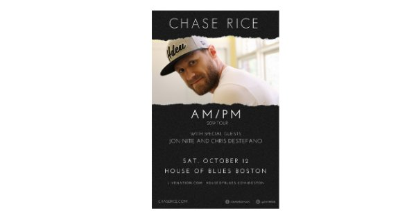 None - Win tickets here to see Chase Rice!