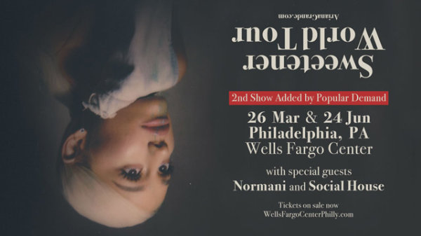 None - AMOE: Ariana Grande VIP in Philly-Tickets/Limo and iPhone X!
