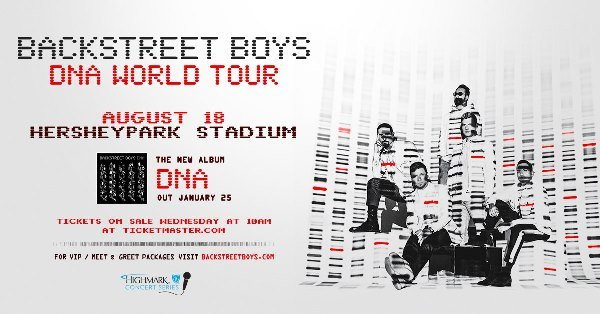 None - Register To Win Backstreet Boys In Hershey!