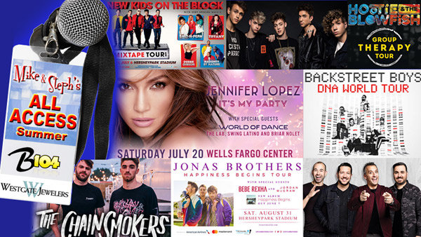 None - AMOE; Mike and Steph's All Access Summer- Win Tickets All Summer Long!