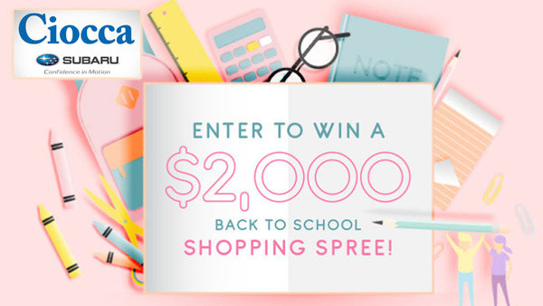 None - Win a Back to School Shopping Spree!