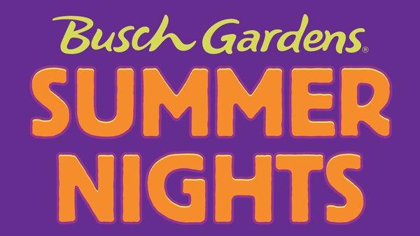 Enter to win tickets to Busch Gardens Summer Nights!