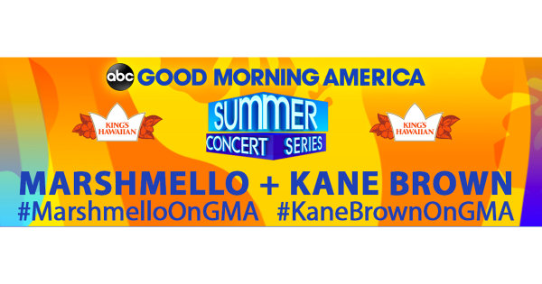 None -  Enter to Win VIP Passes to See Kane Brown and Marshmello with the Good Morning America Summer Concert Series!