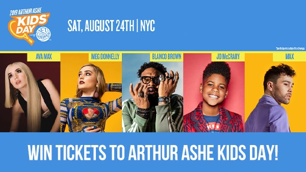 None - Win Tickets to Arthur Ashe Kids Day!