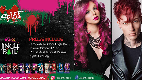 None - Enter To Win The Ultimate Jingle Ball Experience Brought To You By Splat Hair Color