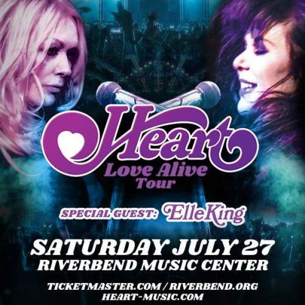 None - Win a pair of tickets to see Heart at Riverbend Music Center!