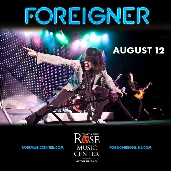 None - Win a pair of tickets to see Foreigner at Rose Music Center!