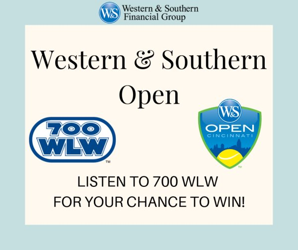 None - Listen to 700 WLW for your chance to win tickets to the 2019 Western & Southern Open!