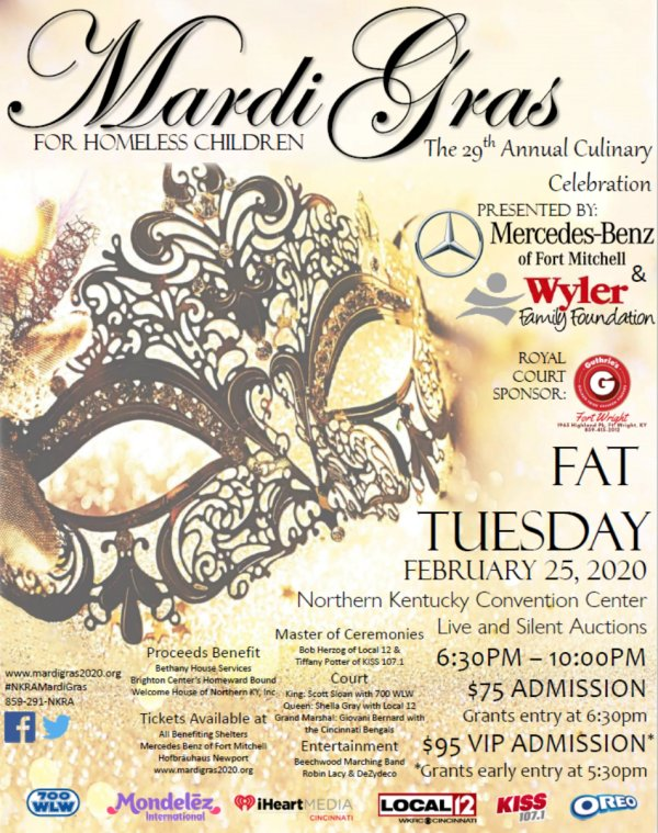 image for Win tickets to Mardi Gras for Homeless Children presented by Mercedes-Benz of Fort Mitchell!