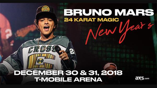 None - Celebrate the New Year w/ Bruno Mars in Las Vegas (12/30)
