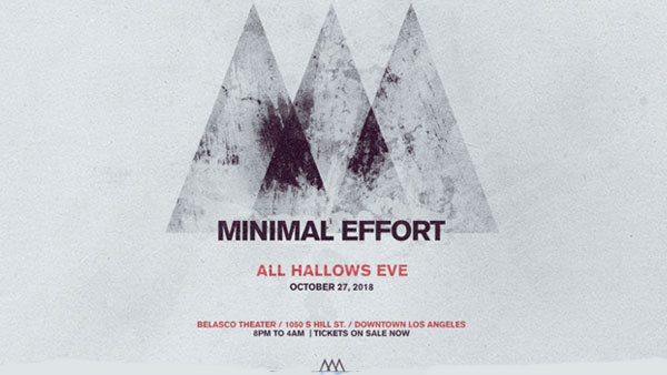 None - Minimal Effort: All Hallow's Eve at Belasco Theater (10/27)