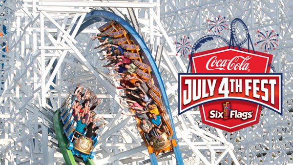 None - Six Flags Magic Mountain's July 4th Fest, presented by Coca-Cola (4-pack)
