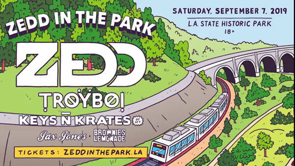 None - ZEDD IN THE PARK at LA Historic State Park (9/7) (Pair)