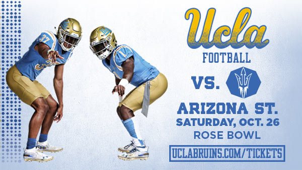 None - UCLA Bruins vs. Arizona State Football (10/26) (4-pack)