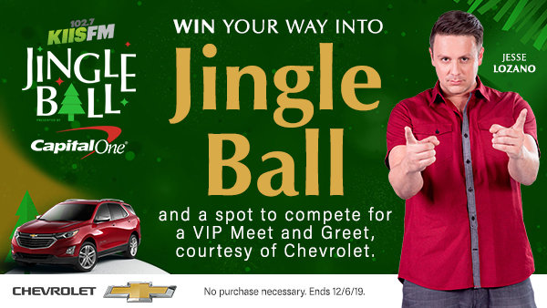 None - Win your way into Jingle Ball and a spot to compete for a VIP Meet and Greet, courtesy of Chevrolet