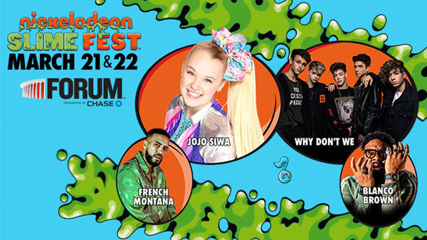 image for Nickelodeon's SlimeFest at The Forum (3/21) (4-pack)