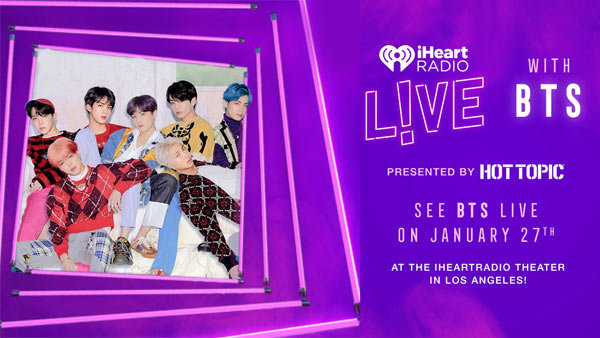 None - Bring Your Squad to attend iHeartRadio LIVE with BTS presented by HOT TOPIC (1/27) (4-pack)