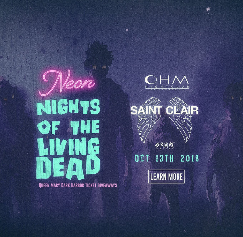club dv8: 10/13- dj st claire - #neonnightsofthelivingdead   kiis fm