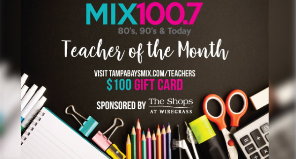 None -  Teacher of the Month wins a $100 Gift card!